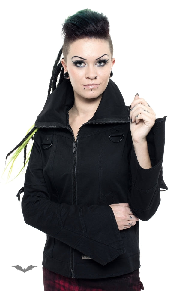 Queen of Darkness - Jacket with seams and bell-shaped sleeve
