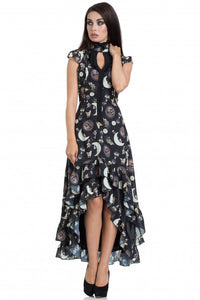 Jawbreaker Clothing - Black Catstellation High-Low Dress