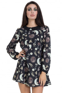 Jawbreaker Clothing - Black Catstellation Wednesday Dress