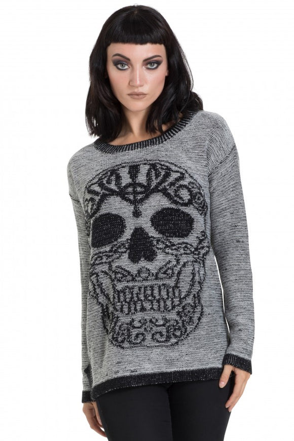 Jawbreaker Clothing - Black Celtic Skull Sweater