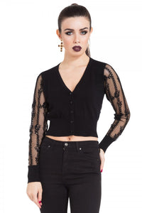 Jawbreaker Clothing - Black Lace Cardigan - Egg n Chips London
