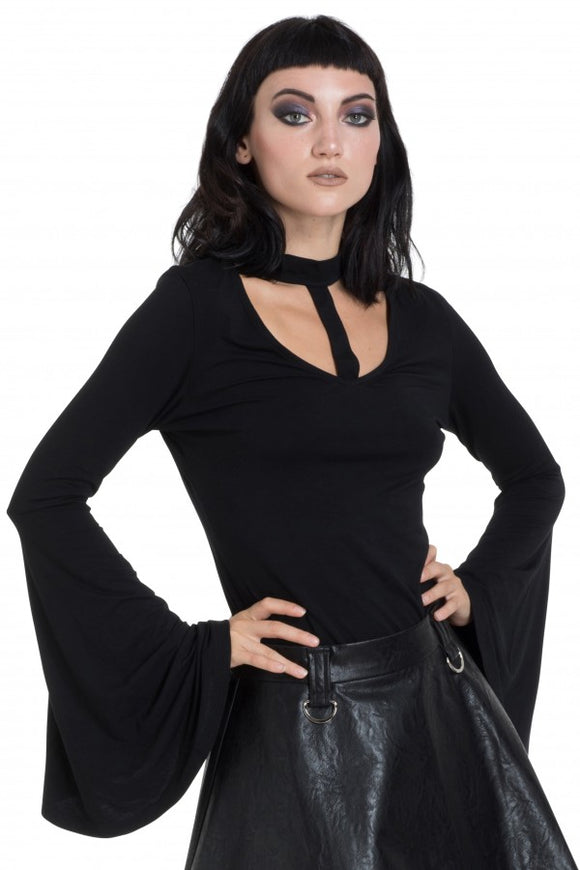 Jawbreaker Clothing - Black Mystic Bell Sleeve Top