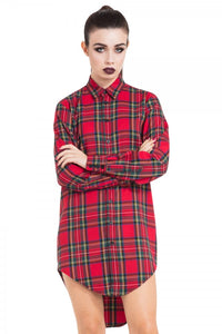 Jawbreaker Clothing - Plaid Boyfriend Shirt - Egg n Chips London