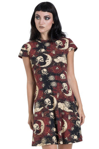 Jawbreaker Clothing - Red Moonstone Skater Dress