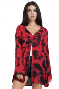 Jawbreaker Clothing - Red Tie-Dye Kimono - Egg n Chips London