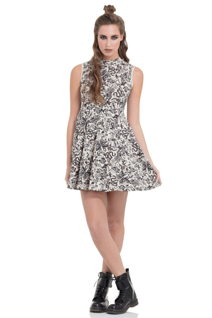 Tattoo Skater Dress by Jawbreaker Clothing