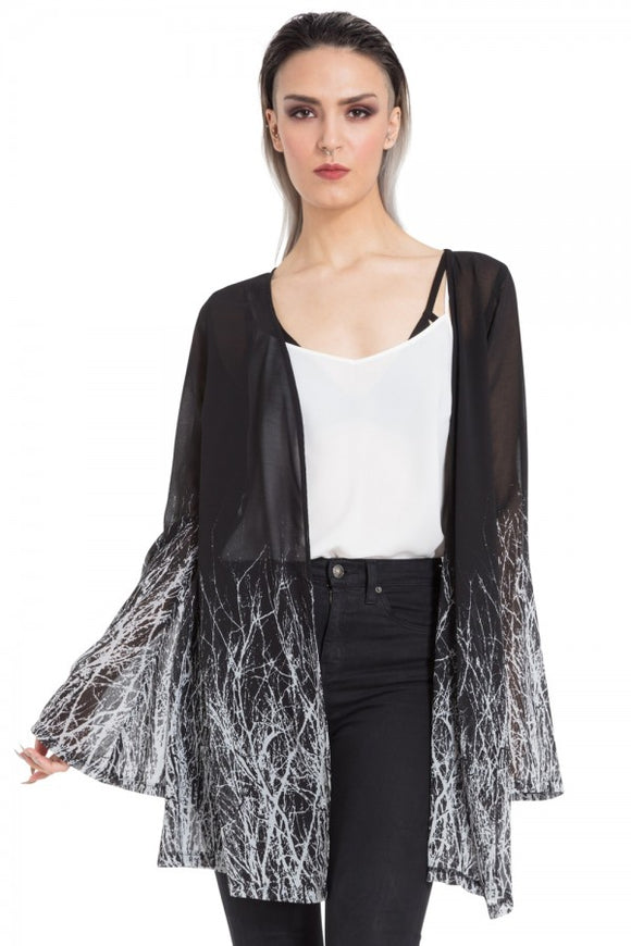 Jawbreaker Clothing - Twig Fabric Kimono - Egg n Chips London