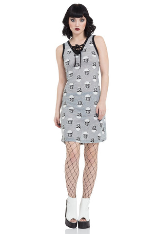 Jawbreaker Clothing - Two Tone Skull Dress