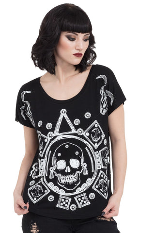 Jawbreaker Clothing - Women's Black Mayan Calander Top