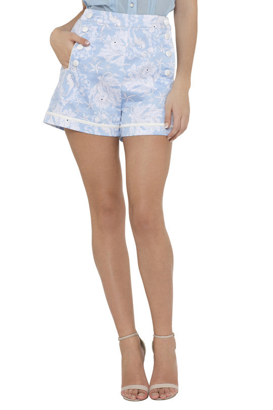 Voodoo Vixen - Jeanette Nautical Shorts - Egg n Chips London