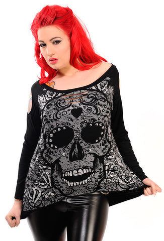 Banned Clothing - Candy Skull Sweatshirt