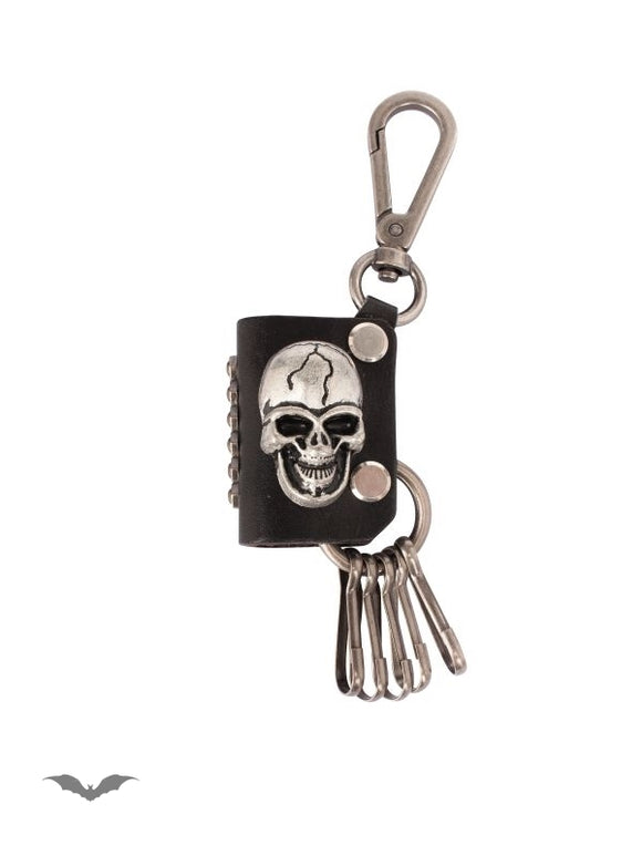 Queen of Darkness - Key pendant with carabiner and skull