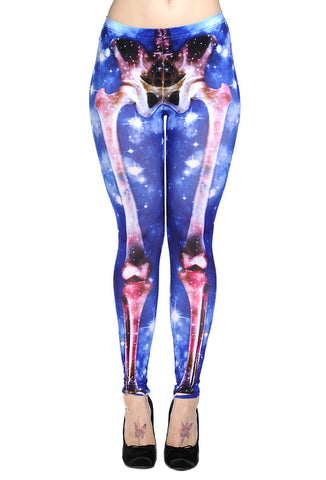 Banned Clothing - Skeleton Universe Leggings