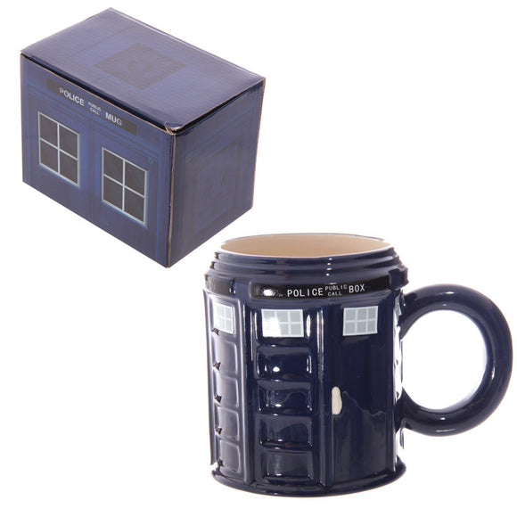 Egg n Chips London - Novelty Ceramic Police Box Mug - Egg n Chips London