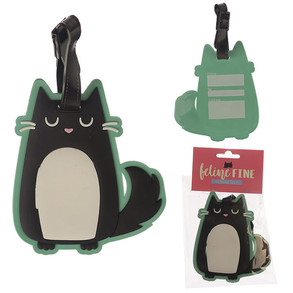 Novelty PVC Luggage Tag - Cat Design LUT11