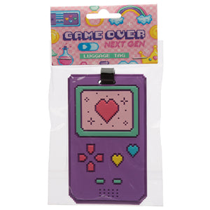Fun Retro Gaming Next Gen Game Over PVC Luggage Tag LUT24