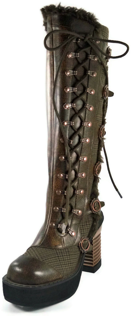 Hades Shoes - Langdon Brown Steampunk Boots