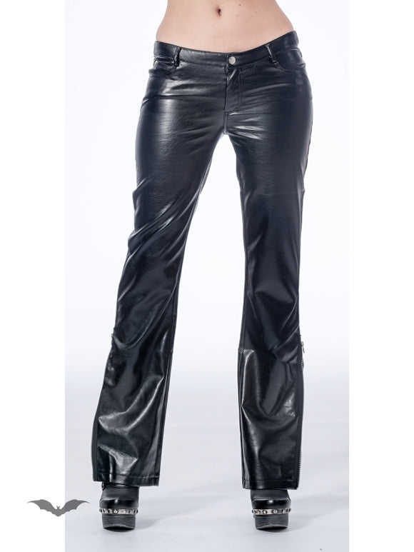 Queen of Darkness - Latex look pants with zipper