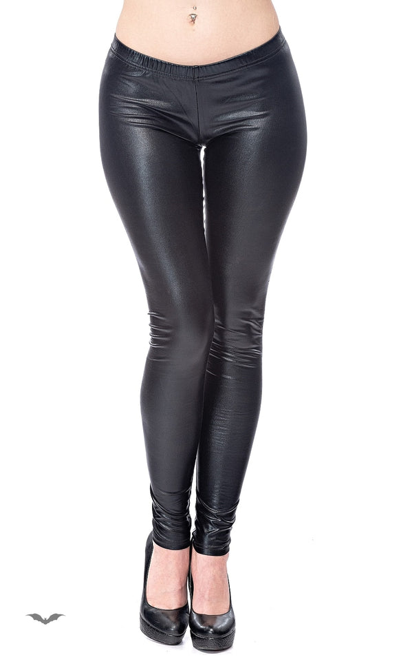Queen of Darkness - Leather Look Leggings