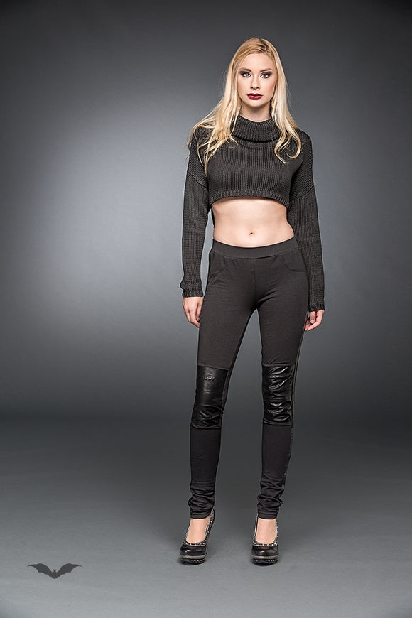 Queen of Darkness - Leggings With Artificial Leather