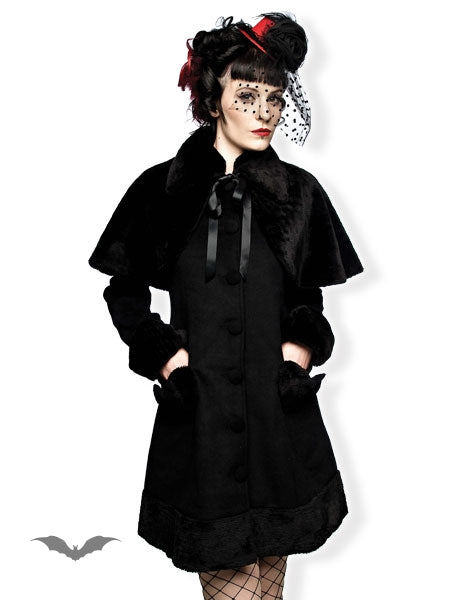 Queen of Darkness - Lolita style elegant winter coat