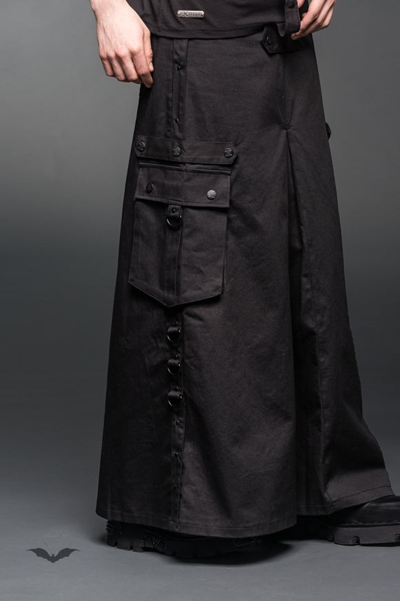 Queen of Darkness - Long skirt with pockets and d-rings