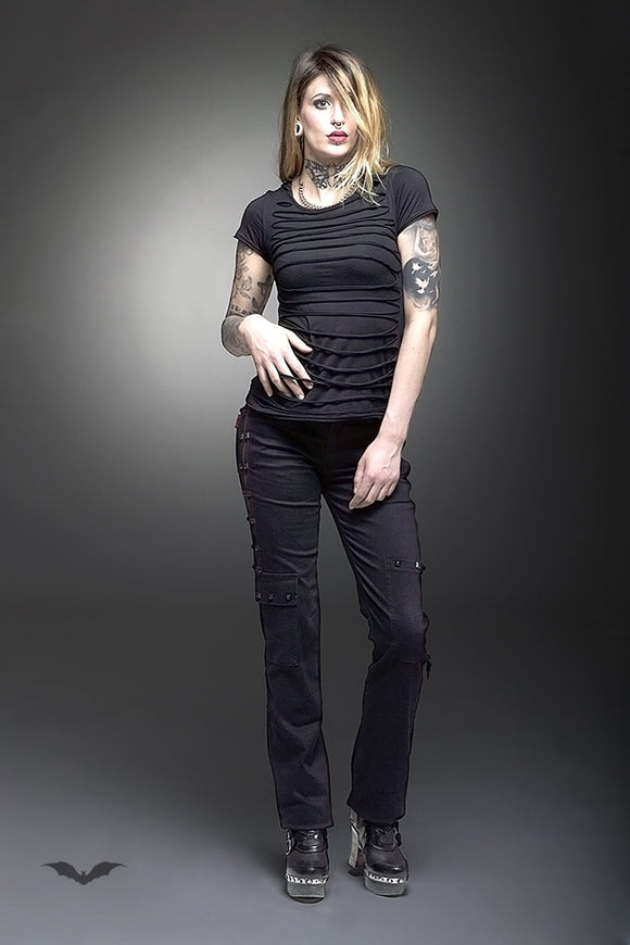 Queen of Darkness - Long trousers with zipper applications