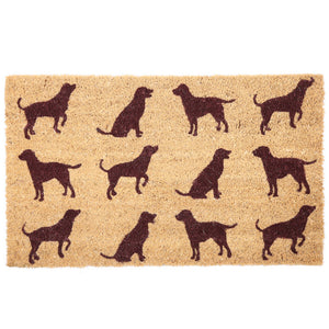 Egg n Chips London - Coir Door Mat - Dog Silhouette - Egg n Chips London