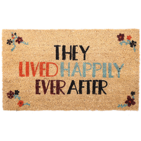 Egg n Chips London - Coir Door Mat - They Lived Happily Ever After - Egg n Chips London
