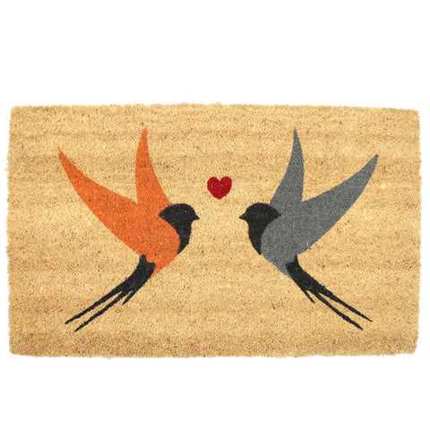Egg n Chips London - Coir Door Mat - Swallows Design
