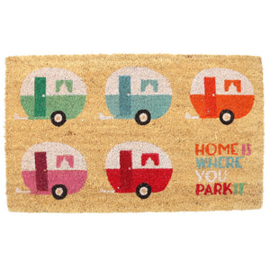 Egg n Chips London - Coir Door Mat - Caravan Design - Egg n Chips London