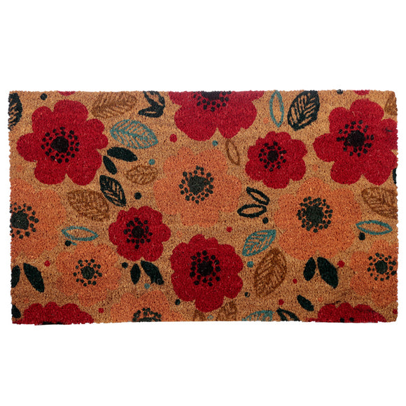 Coir Door Mat - Poppy Fields MAT62