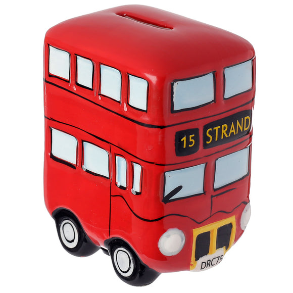 Fun Novelty Ceramic Red Routemaster Bus Money Box MB98