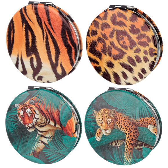 Fun Collectable Big Cat Spots and Stripes Compact Mirror MIRR44