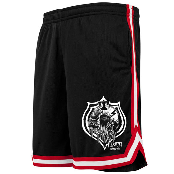 Toxico Clothing - WS Skull Badge Mesh Shorts