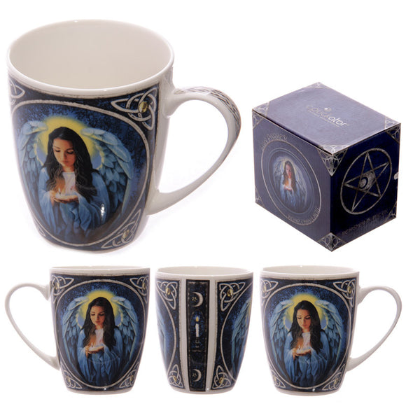 Egg n Chips London - Fantasy Spiritual Angel Design New Bone China Mug - Egg n Chips London