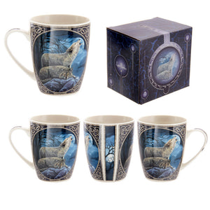 Egg n Chips London - Fantasy Howling Wolf Design New Bone China Mug - Egg n Chips London