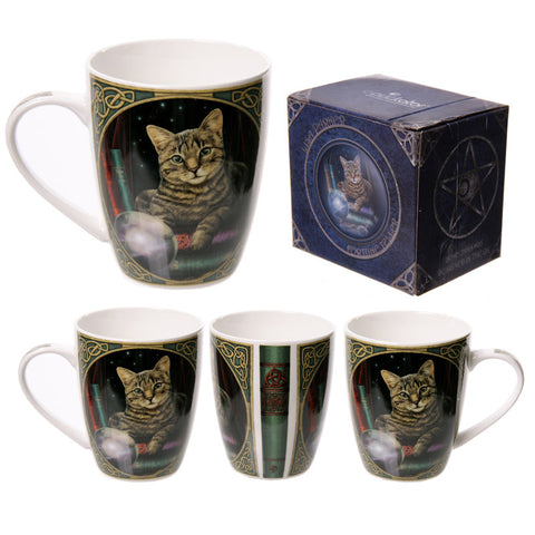 Egg n Chips London - Cat Fortune Teller Lisa Parker Designed New Bone China Mug