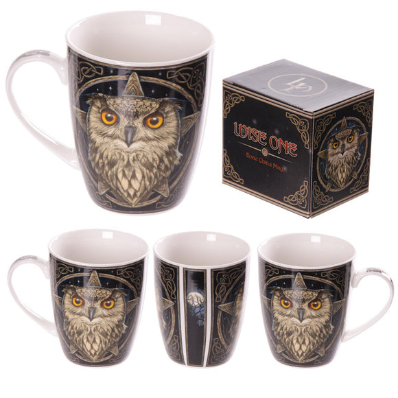 Egg n Chips London - New Bone China Wise Owl Design Mug - Egg n Chips London