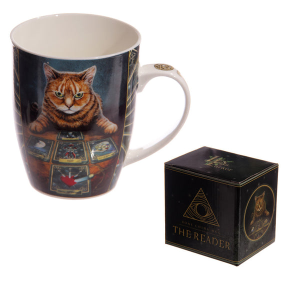 Egg n Chips London - New Bone China Mug - Fantasy Cat with Tarot Cards - Egg n Chips London