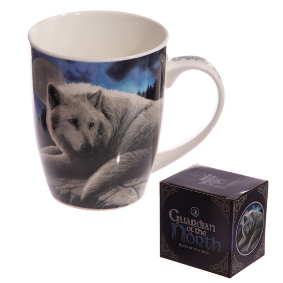 Egg n Chips London - New Bone China Mug - Fantasy Wolf Guardian - Egg n Chips London
