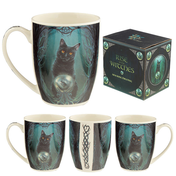 Rise of the Witches Cat Lisa Parker Porcelain Mug MULP46