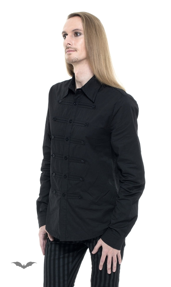 Queen of Darkness - Military style shirt with 3 rows buttons