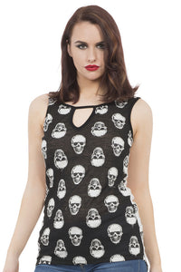 Jawbreaker Clothing - Monotone Skull Top - Egg n Chips London