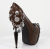 Hades Shoes - Napier Brown Steampunk Platform Heels