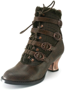 Hades Shoes - Nephele Victorian Ankle Booties - Egg n Chips London