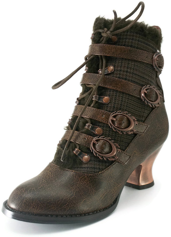 Hades Shoes - Nephele Victorian Ankle Booties