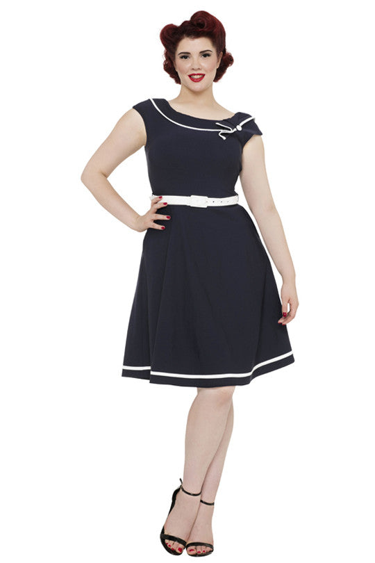 Voodoo Vixen Clothing - Nora Super Cute Nautical Dress - Egg n Chips London