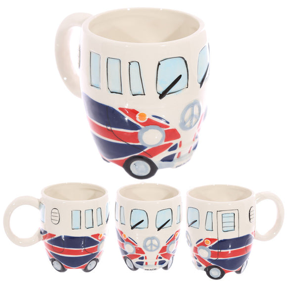Egg n Chips London - Novelty Camper Van Union Flag Mug - Egg n Chips London