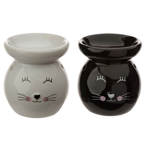 Ceramic Cat Face Ceramic Eden Oil Burner OB317